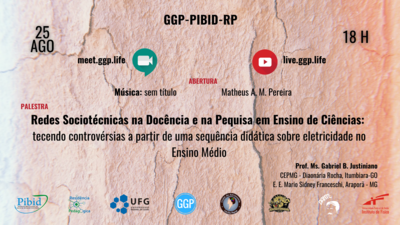 CAPA FOLDER Palestra GGP_PIBID_RP Redes