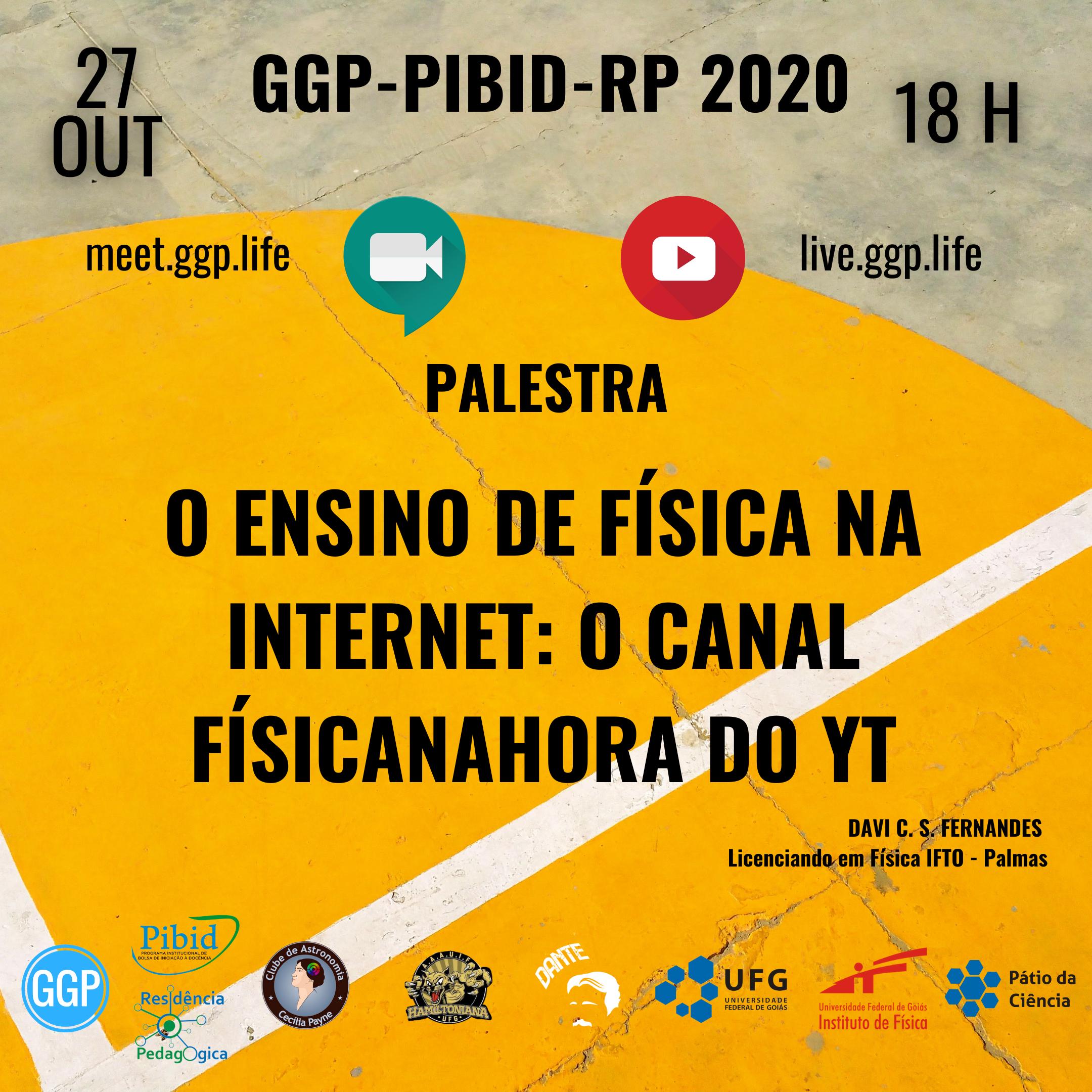 FEED FOLDER Palestra GGP_PIBID_RP ENSINO DE FÍSICA NA INTERNET 27 OUT 2020