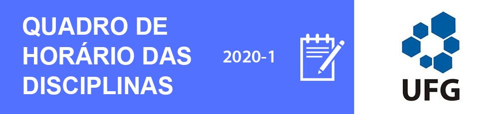 Banner Quadro de Horário das Disciplinas 2020-1