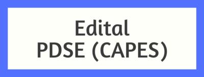 Edital PDSE Banner