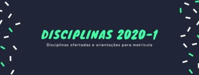 Noticia disciplinas 2020/1