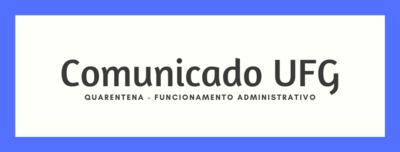 Comunicado UFG Banner