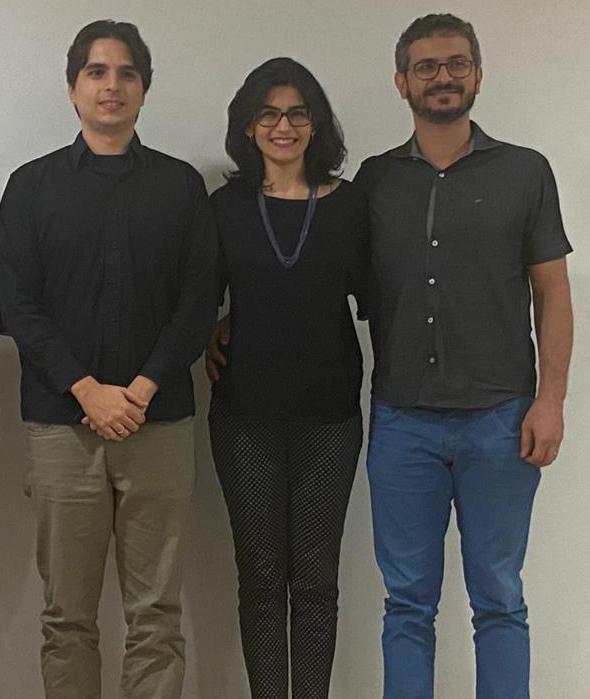 Foto: Lucas Weba, Profa. Mirelle, Prof. Alexandre