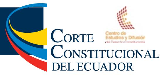 Centro de Estudios y Difusión del Derecho Constitucional - Corte Constitucional del Ecuador