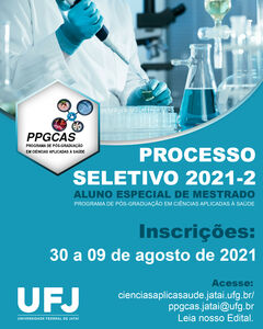 Edital Processo Seletivo 2021-2 PPGCAS