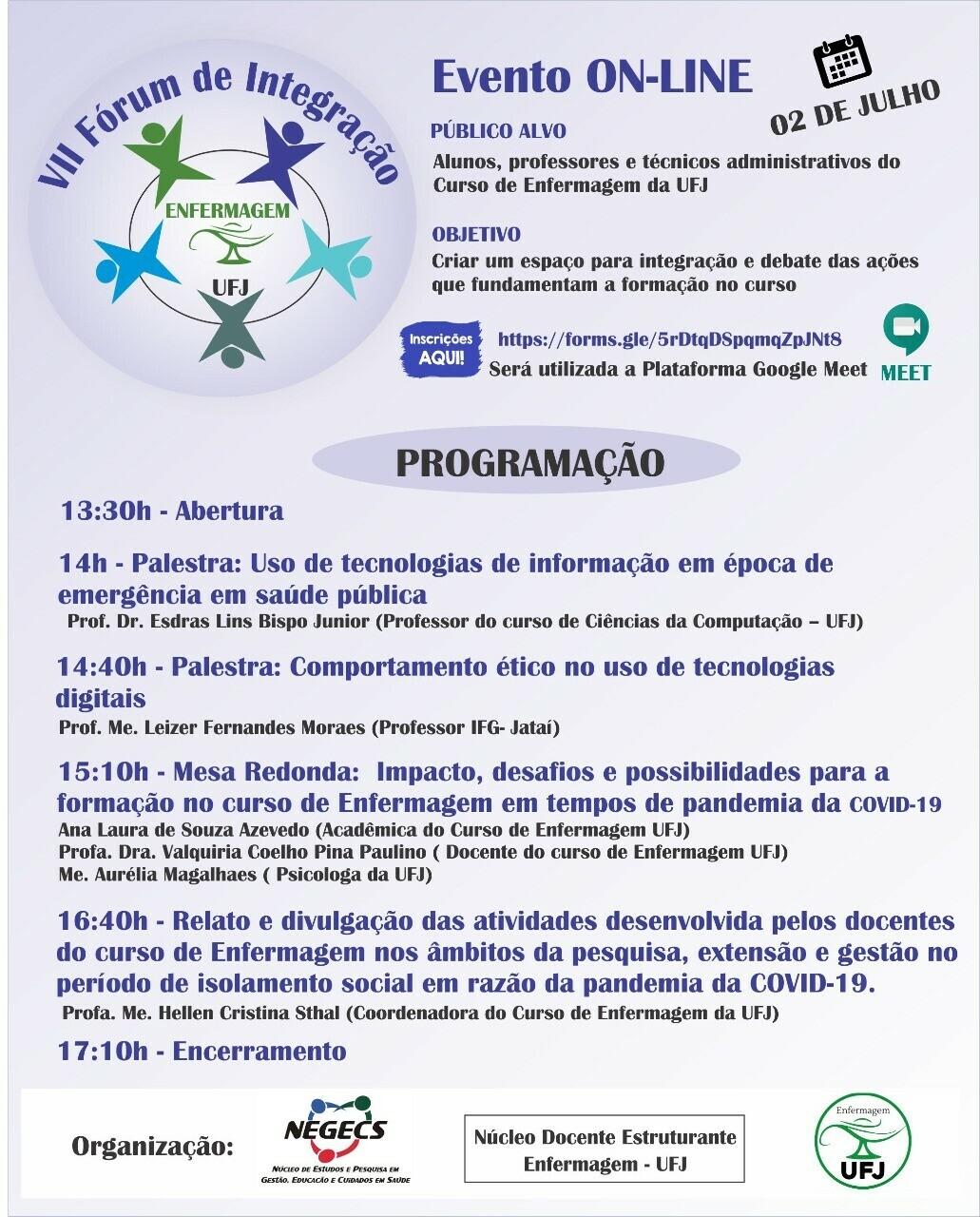 VII Fórum de Integração do Curso de Enfermagem B