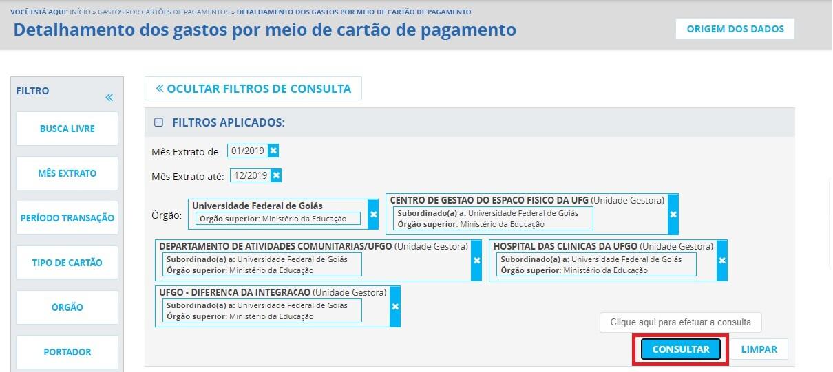 Portal da Transparência - Cartões de Pagamento 4