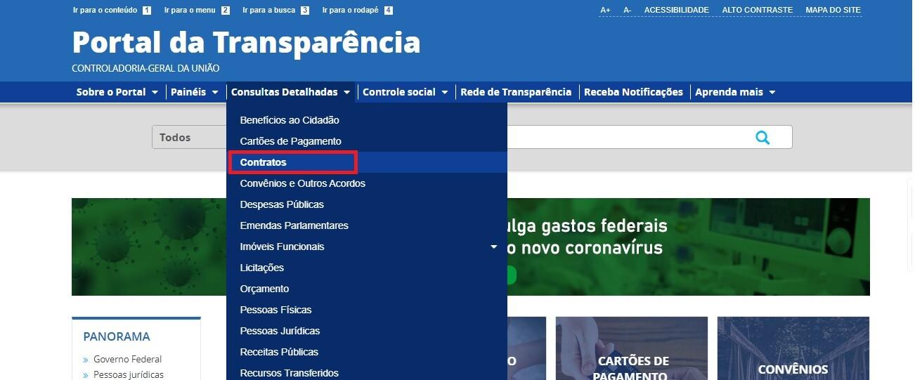 Portal da Transparência - Contratos 1