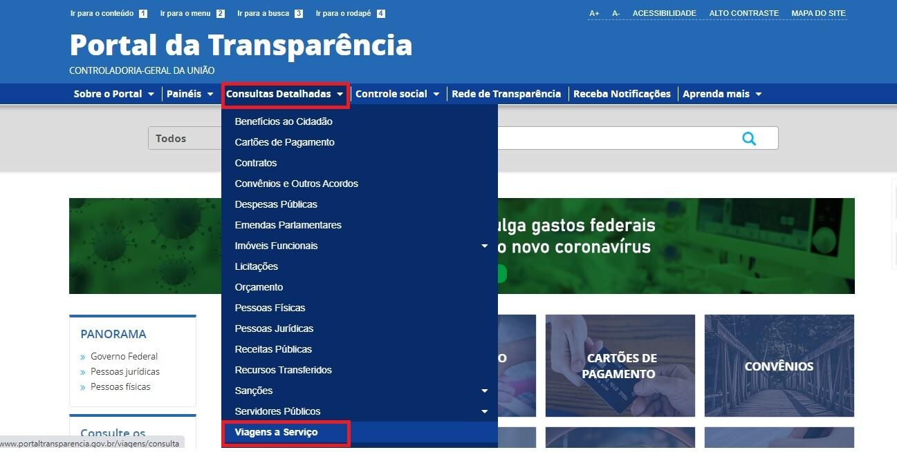 Portal da Transparência - Diárias e Passagens 1