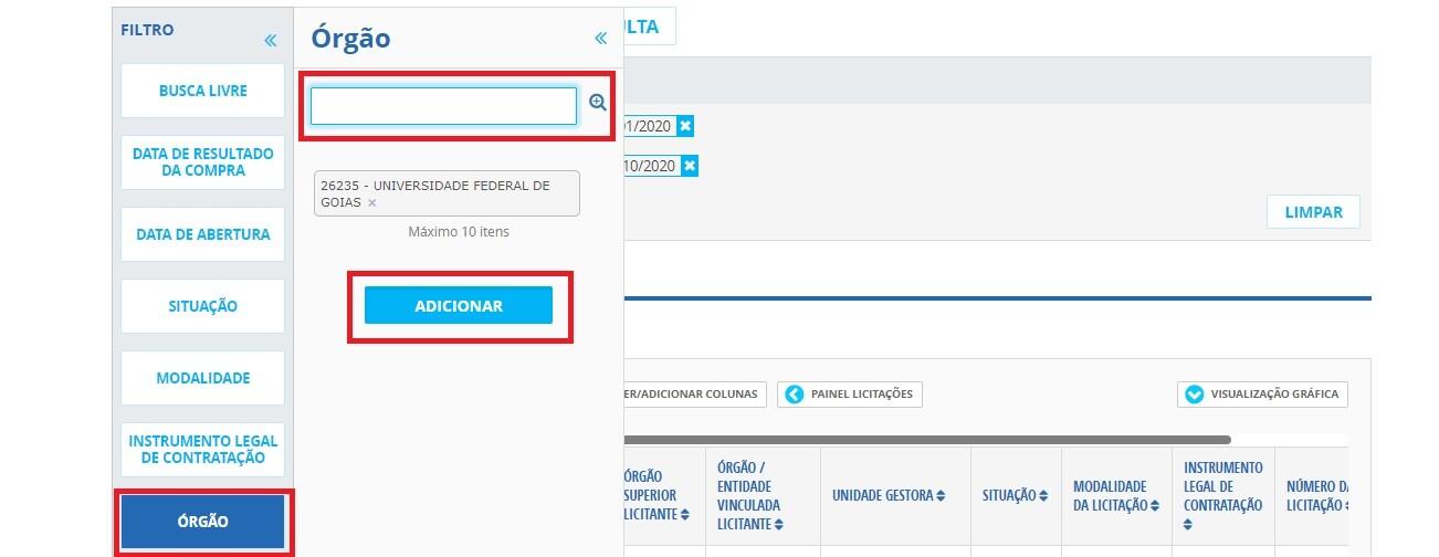 Portal da Transparência - Licitações 2