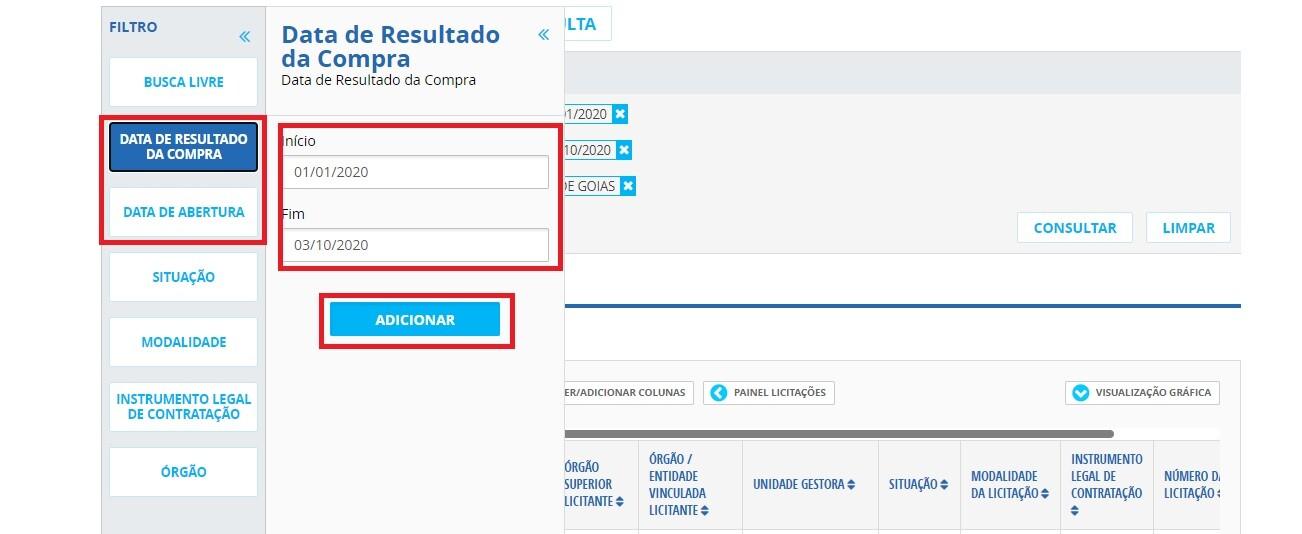 Portal da Transparência - Licitações 3