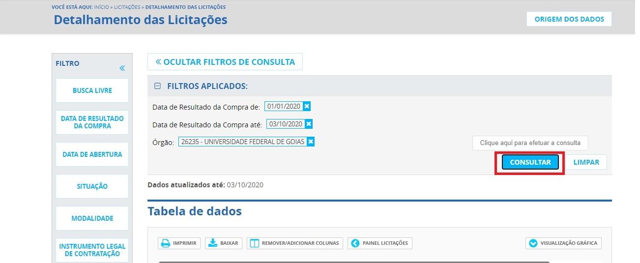 Portal da Transparência - Licitações 4