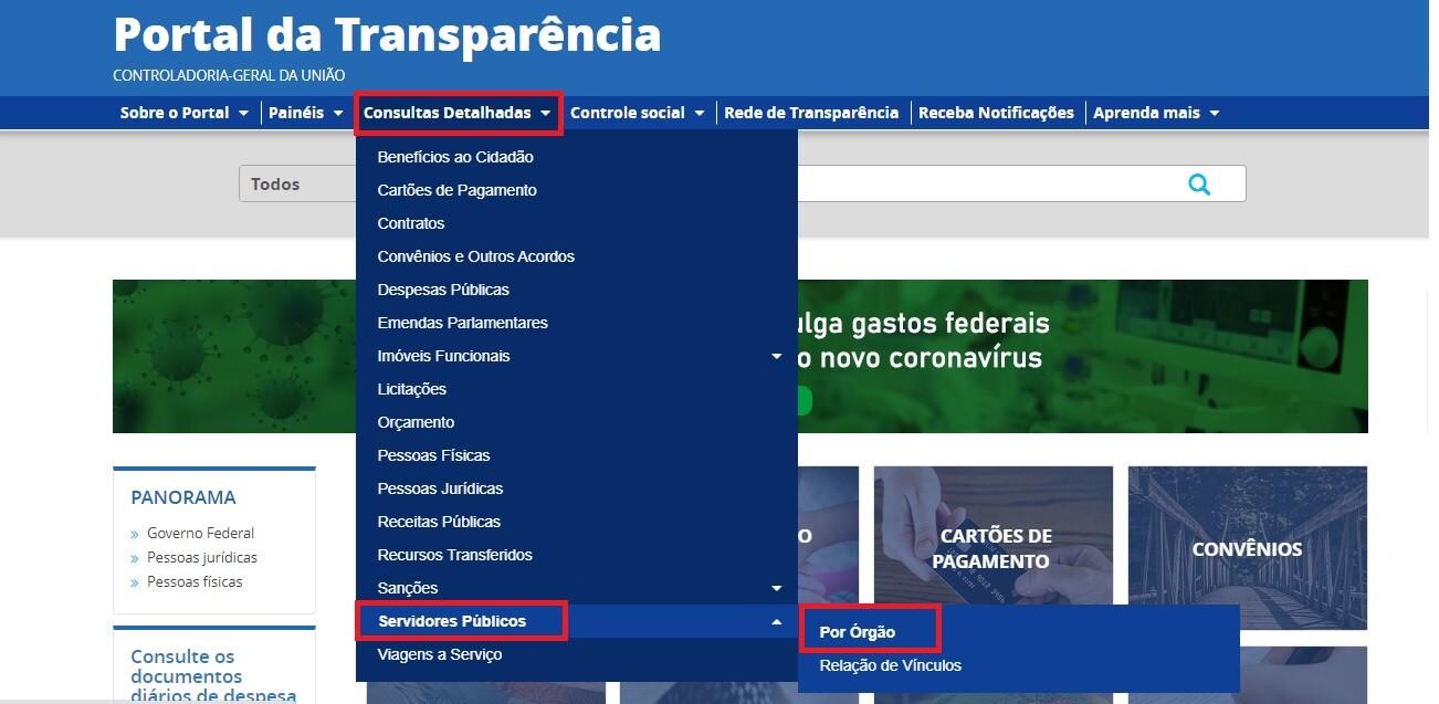 Portal da Transparência - Servidores 1