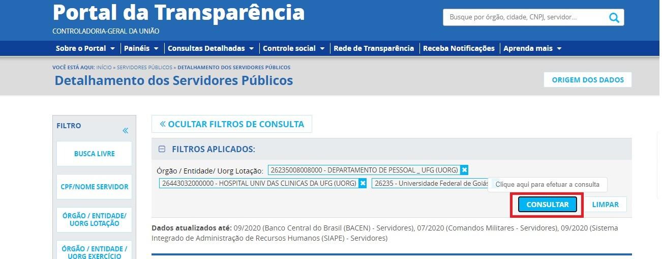 Portal da Transparência - Servidores 3