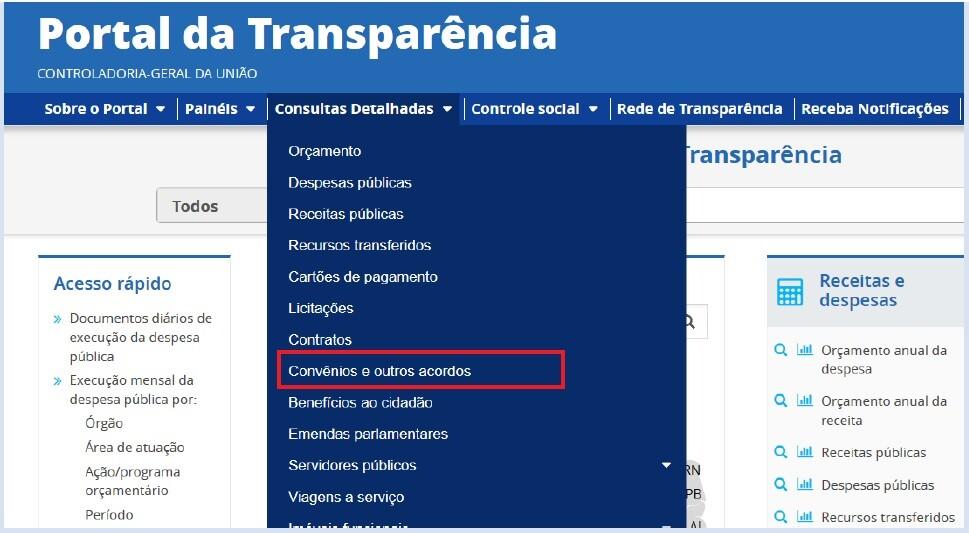 Portal da Transparência 1 - Convênios