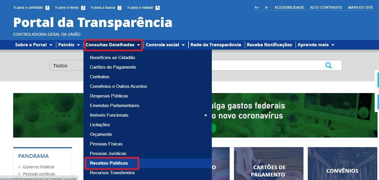 Portal da Transparência - Receitas 1