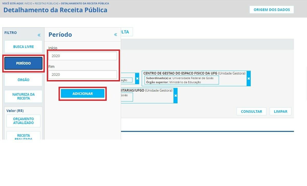 Portal da Transparência - Receitas 3