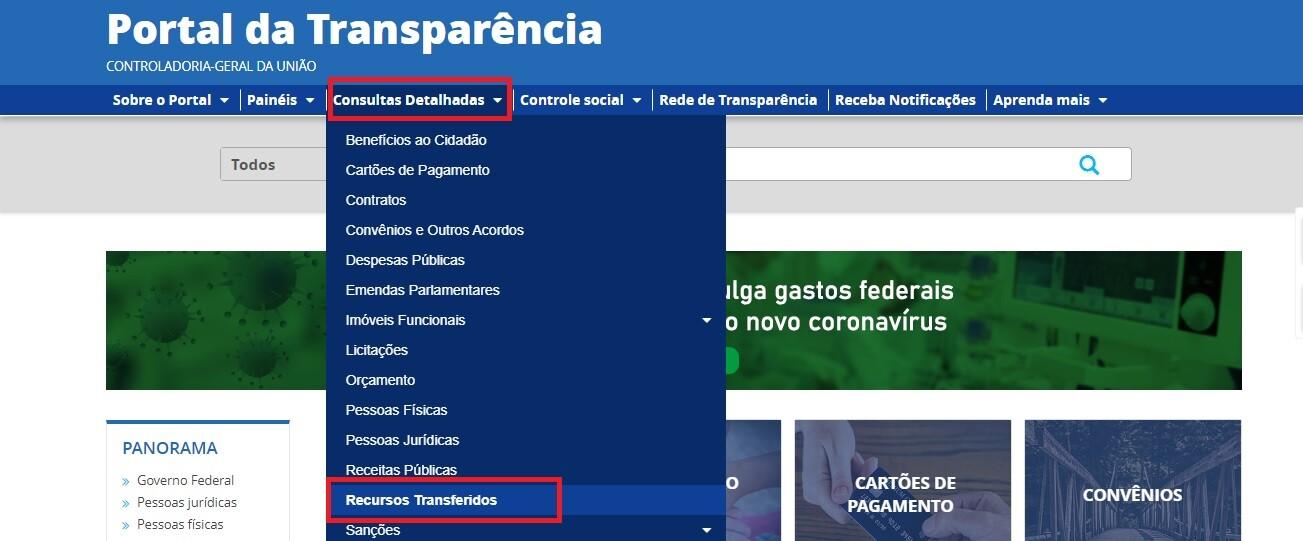 Portal da Transparência - Transferência 1