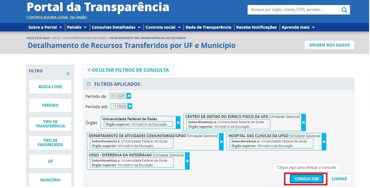 Portal da Transparência - Transferência 5