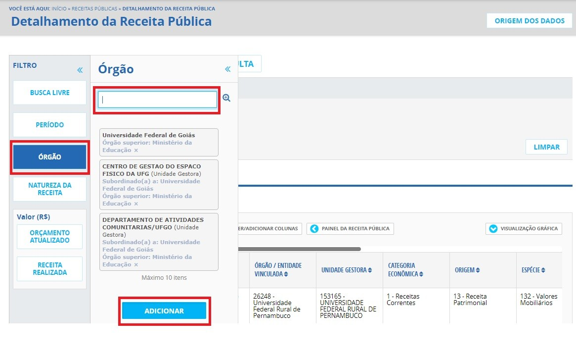 Portal da Transparência - Receitas 2