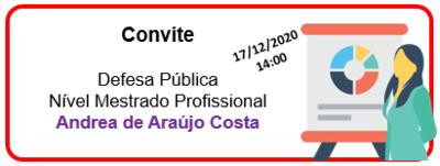 Convite Andrea Araujo Costa