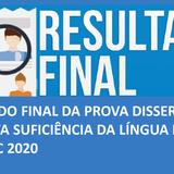 RESULTADO FINAL_PROVA DISSERTATIVA_PROVA SUFICIÊNCIA DA LÍNGUA INGLESA_MPSC_2020