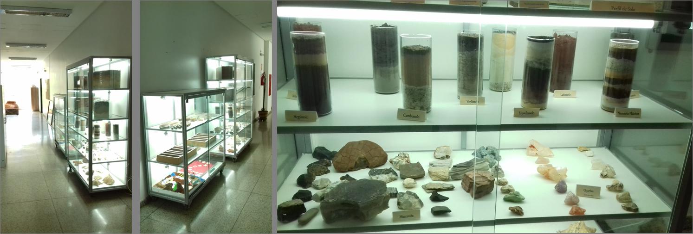 Exposição de Perfis de Solos, Materiais de Origem, Maquetes e Dioramas