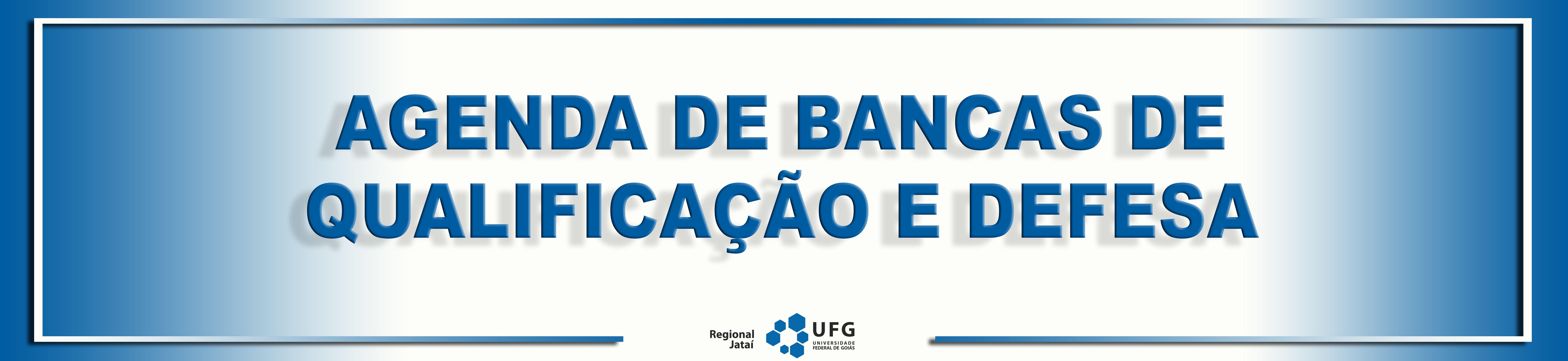 Agenda de bancas de qualificação e defesa