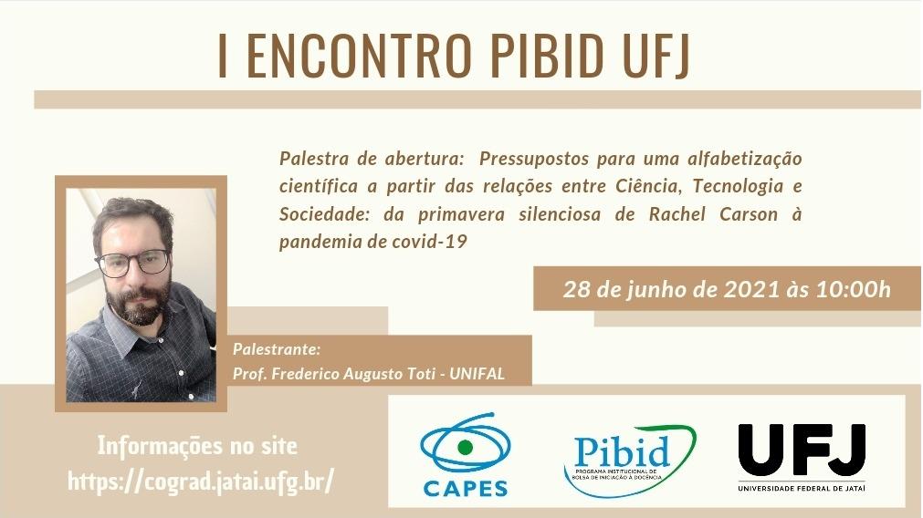 I Encontro PIBID UFJ - BANNER - Link para acesso para a conferência de abertura