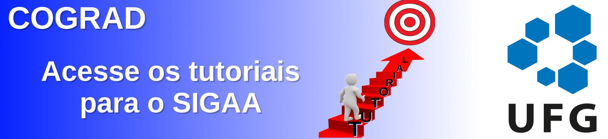 Banner do tutorial feita pela COGRAD, para coordenadores, docentes e discentes.