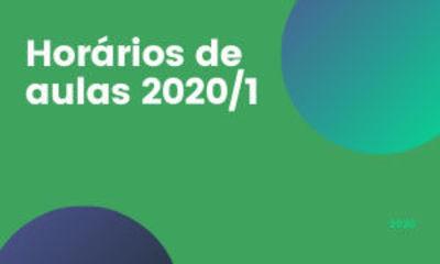 Banner Horários de Aulas 2020-1
