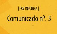 FAV informa   Comunicado n. 3
