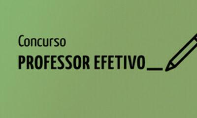Concurso professor efetivo 2020