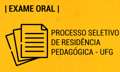 exame oral para Residência Pedagógica 2020