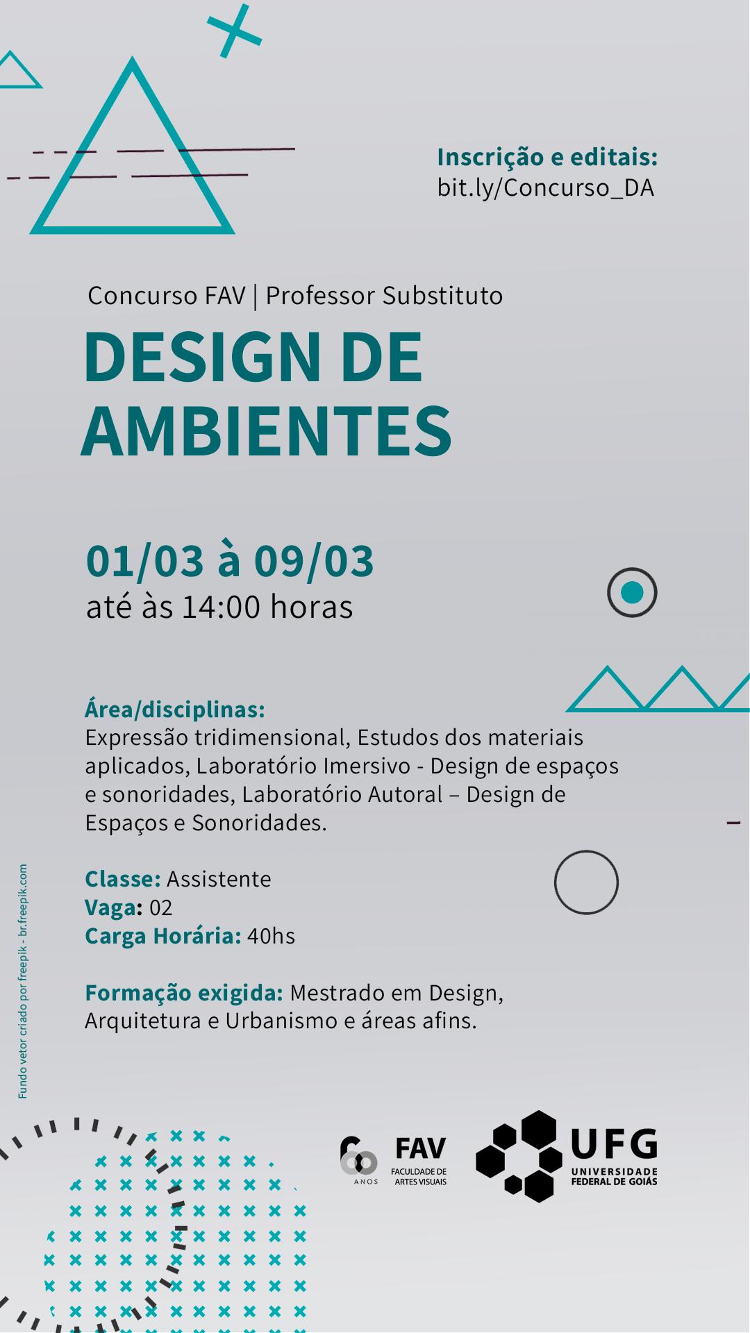 Concurso Design de Ambientes 2021/1
