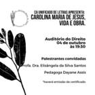 "Palestra ""Carolina Maria de Jesus, vida e obra"""