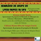 Seminário de grupo do LPEQI/NUPEC/IQ/UFG 08 de Janeiro de 2021