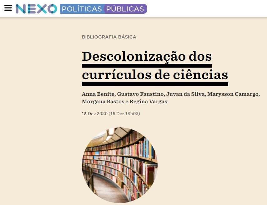 Nexo - Descolonização dos currículos de ciências