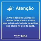 Edital 01/2021 - PROEC Bolsista Editora