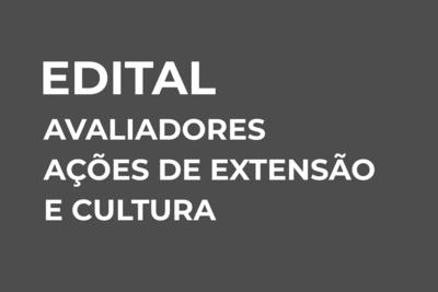 Banner Avaliadores Ações de Extensão
