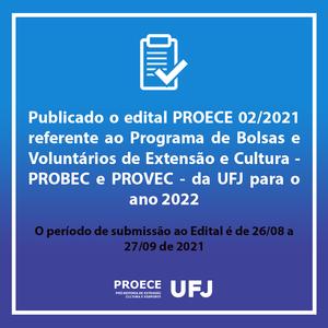 Edital PROBEC/PROVEC 02/2021