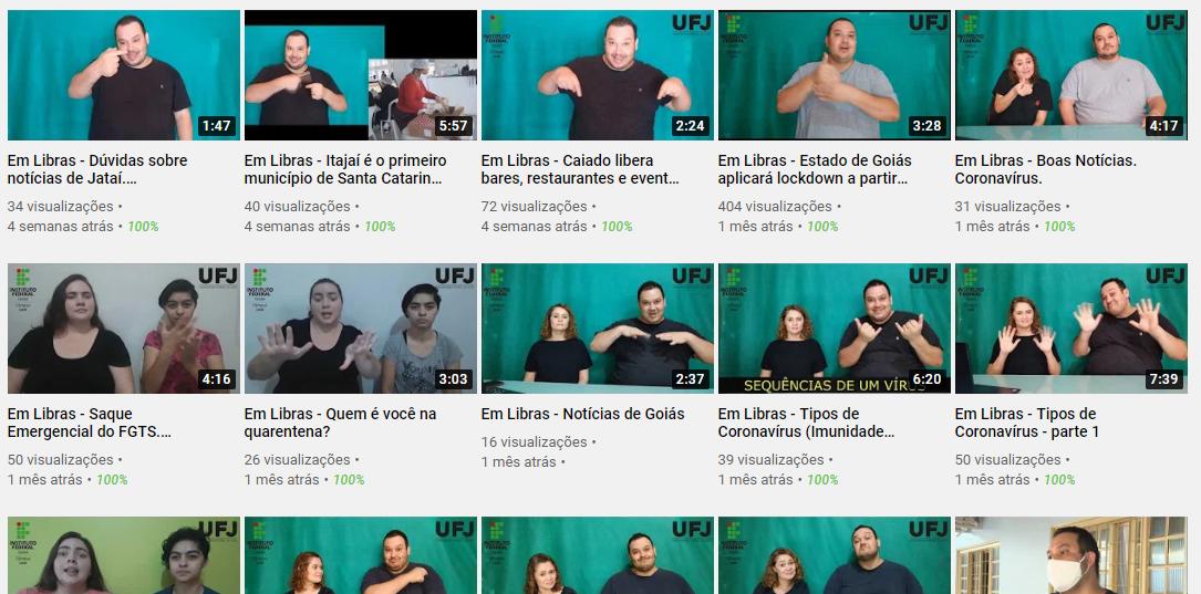 canal youtube libras