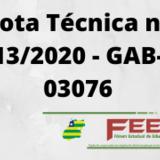 Banner Nota Técnica nº_ 13_2020 - GAB- 03076