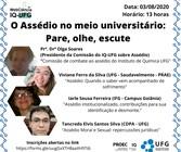 Seminário assédio no meio universitário