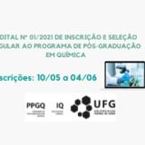 Capa edital PPGQ 2021