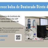 IQSC/USP oferece bolsa de doutorado direto da FAPESP