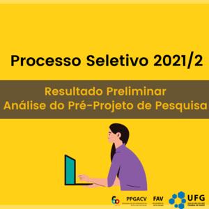 ps 2021 - resultado preliminar projeto