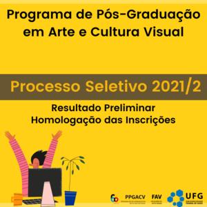 PS 2021 - Resultado Preliminar - Homologação