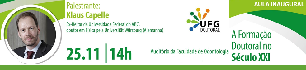Banner Aula Inaugural UFG Doutoral - 2019