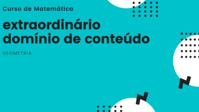 Curso Matemática - Geometria